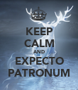 KEEP CALM AND EXPECTO PATRONUM - Personalised Poster large
