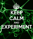 KEEP CALM AND EXPERIMENT  - Personalised Poster large
