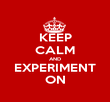 KEEP CALM AND EXPERIMENT ON - Personalised Poster large