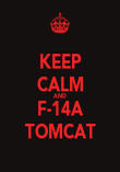 KEEP CALM AND F-14A TOMCAT - Personalised Poster large