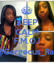KEEP CALM AND F.M.O.I @Gorgeous_Rah - Personalised Poster large