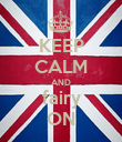 KEEP CALM AND fairy ON - Personalised Poster large