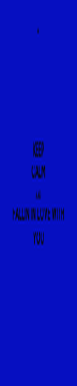 KEEP CALM AND FALLIN IN LOVE WITH YOU - Personalised Poster large