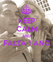 KEEP CALM AND FALTA 1 ANO  - Personalised Poster large