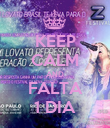 KEEP CALM AND FALTA 1 DIA - Personalised Poster large