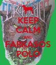 KEEP CALM AND FARKASOS PÓLÓ - Personalised Poster large