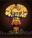 KEEP CALM AND fart away - Personalised Poster large