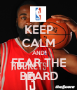 KEEP CALM AND FEAR THE BEARD - Personalised Poster large
