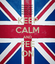 KEEP CALM AND FEE ON - Personalised Poster large