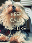 KEEP CALM AND FEEL LIKE A LION - Personalised Poster large
