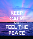 KEEP CALM AND FEEL THE PEACE - Personalised Poster large