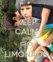 KEEP CALM AND FIFI LIMONADO - Personalised Poster small