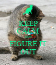 KEEP CALM AND FIGURE IT OUT - Personalised Poster large