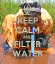 KEEP CALM AND FILTER WATER - Personalised Poster large