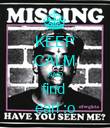 KEEP CALM AND find  earl :o - Personalised Poster large