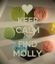 KEEP CALM AND FIND MOLLY - Personalised Poster large