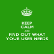 KEEP CALM AND FIND OUT WHAT YOUR USER NEEDS - Personalised Poster large