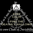 KEEP CALM AND FIND THE DEATHLY HALLOWS - Personalised Poster large