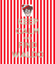 KEEP CALM AND FIND WALDO - Personalised Poster large