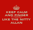 KEEP CALM AND FINGER A 9 YEAR OLD LIKE THE NITTY ALLAN - Personalised Poster large