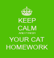 KEEP CALM AND FINISH YOUR CAT HOMEWORK - Personalised Poster large
