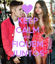 KEEP CALM AND FIQUEM JUNTOS - Personalised Poster large