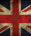 KEEP CALM AND Fivi's  My Friend <3 - Personalised Poster large