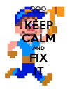 KEEP CALM AND FIX IT - Personalised Poster large