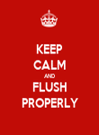 KEEP CALM AND FLUSH PROPERLY - Personalised Poster large