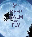 KEEP CALM AND FLY  - Personalised Poster large