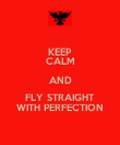 KEEP CALM AND FLY STRAIGHT WITH PERFECTION - Personalised Poster large