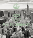 KEEP CALM AND FLY TO ZERMATT  - Personalised Poster large