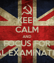KEEP CALM AND FOCUS FOR FINAL EXAMINATIONS - Personalised Poster large