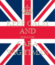 KEEP CALM AND FOLLOW CARA WIGHTMAN - Personalised Poster large