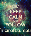 KEEP CALM AND FOLLOW http://nicirofl.tumblr.com/ - Personalised Poster large