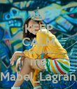 KEEP CALM And follow  me @Mabel_Lagrange - Personalised Poster large