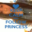KEEP CALM AND FOLLOW PRINCESS - Personalised Poster large