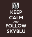 KEEP CALM AND FOLLOW SKYBLU - Personalised Poster large