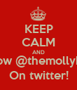 KEEP CALM AND Follow @themollyboys On twitter! - Personalised Poster large