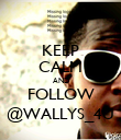 KEEP CALM AND FOLLOW @WALLYS_4U - Personalised Poster large