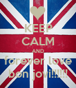 KEEP CALM AND forever love bon jovi!!!!!! - Personalised Poster large