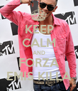 KEEP CALM AND FORZA EMIS KILLA - Personalised Poster large