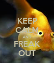 KEEP CALM AND FREAK OUT - Personalised Poster large