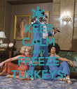 KEEP CALM AND FREEZE TURKEYS! - Personalised Poster large