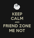 KEEP CALM AND FRIEND ZONE ME NOT - Personalised Poster large