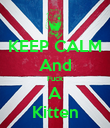 KEEP CALM And Fuck A Kitten - Personalised Poster small