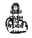 KEEP CALM AND FUCK ALL - Personalised Poster large