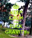 KEEP CALM AND FUCK GRAVITY - Personalised Poster large