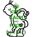 KEEP CALM AND FUCK hsn kh :) - Personalised Poster large