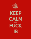 KEEP CALM AND FUCK IB - Personalised Poster large